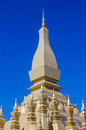 Pha that luang stupa in vientaine loas the most important Royalty Free Stock Photo