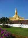 Pha That Luang stupa in Vientiane, Laos Royalty Free Stock Photo