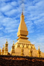 Pha That Luang(Temple) or Great Stupa in Vientiane, Symbol of Laos. Royalty Free Stock Photo