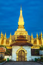 Pha that luang temple or great stupa in vientiane symbol of laos thatluang is a gold covered large buddhist the centre since its Royalty Free Stock Image