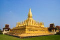 Pha That Luang temple in Vientiane Stock Photography