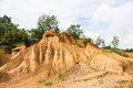 Phae muang phi park area of sediment caused by erosion in thailand is a place with original rock formations the pan nam range it Stock Photos
