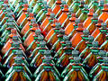 Phalanx of Bottles Royalty Free Stock Photo