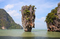 Phang nga bay james bond island thailand Royalty Free Stock Photos