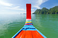 Phang Nga Bay trip on traditional long tail boat Stock Photography