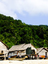 Phangnga thailand march vernacular houses in morgan sea g gypsie village surin islandson Royalty Free Stock Image