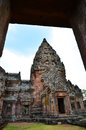 Phanom rung historical park at bu ri rum Royalty Free Stock Photo