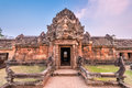 Phanom rung historical park is castle rock old architecture about a thousand years ago at buriram province thailand Stock Photography