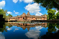 Phanom rung historical park located in the district of honor buriram thailand is pink stone castle on the hill fires extinct Royalty Free Stock Image