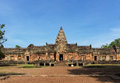 Phanom rung sandstone carved castle buriram province thailand historical park Royalty Free Stock Image