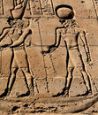 Pharaoh and god hieroglyph Stock Photo