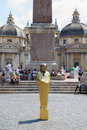 Pharaoh on Piazza del Popolo Royalty Free Stock Images