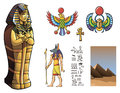 Pharaoh sarcophagus of egyptian and other elements for design of ancient egypt vector illustration Stock Photo
