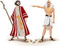Pharaoh sends moses away for passover vector illustration of sending Royalty Free Stock Image