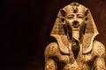 Pharaoh statue amnhotep ii bc made of granite Royalty Free Stock Photo
