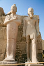 Pharaoh statues in Karnak Temple Royalty Free Stock Photo