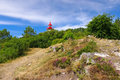Phare de Morgat lighthouse in Brittany Royalty Free Stock Photo