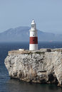 Phare de point d'Europa, Gibraltar Images stock