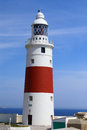 Phare de point de l'Europe, Gibraltar Photos stock