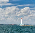 Phare de port. Image stock