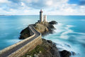 Phare du petit minou in Plouzane, Brittany, France Royalty Free Stock Photo
