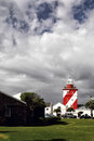 Phare vert de point Image stock