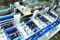 Pharmaceutical bottle medicine production line conveyer Royalty Free Stock Photo