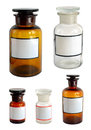 Pharmaceutical bottles set isolated on white background Stock Photo