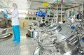 Pharmaceutical industry worker Royalty Free Stock Photo