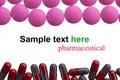 Pharmaceutical madicine capsule drugs background Royalty Free Stock Photos