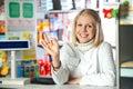 Pharmacist give OK Royalty Free Stock Photo