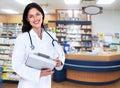 Pharmacist woman. Stock Image