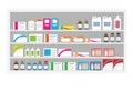 Pharmacy drug shelf
