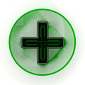 Pharmacy green cross sign Royalty Free Stock Images