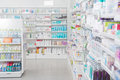 Pharmacy interior with shalldow depth of field Royalty Free Stock Images