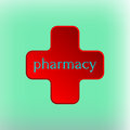 Pharmacy Logo Medicine red cross abstract design vector template. Royalty Free Stock Photo