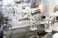Pharmacy medicine glassware at washing Royalty Free Stock Photo