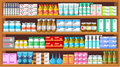 Pharmacy medicine image set of drugs and medical products Stock Image