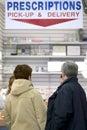 Pharmacy Pick-Up Area Royalty Free Stock Image