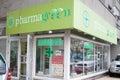 Pharmagreen pharmacy in bucharest romania Stock Image
