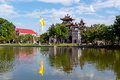 Phat diem cathedral under blue sky in ninh binh vietnam is a architecture cross between and europe Royalty Free Stock Images
