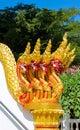 Phaya Naga guarding the Temple Wat in Thailand Royalty Free Stock Photo