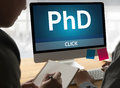 PhD Doctor of Philosophy Degree Education Graduation , Knowledg Royalty Free Stock Photo