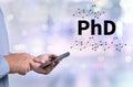 PhD Doctor of Philosophy Degree Education Graduation Royalty Free Stock Photo