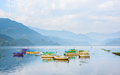 Phewa lake in pokhara nepal Royalty Free Stock Photography