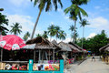 Phi phi island food stands thatched and souvenir on christmas day on don in thailand Stock Image