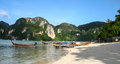 Phi phi island in thailand is taken Stock Photos
