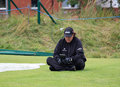 Phil Mickelson contemplates his next shot 9th tee Royalty Free Stock Photos