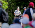 Phil Mickelson enjoys the crowd. Stock Photo
