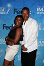 Phil Morris, Vanessa Bell Calloway Stock Photo